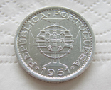 Португальский Сан-Томе и Принсипи 10 эскудо 1951 тираж 40 000 photo 2