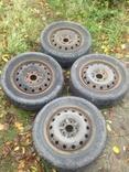 Колеса шины 15 зима Nokian 195/60/15 88Т. Диски 6J 114,3 на 5 Toyota