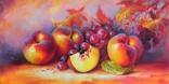 """Натюрморт с фруктами"" х.м. 30х60 см."