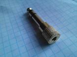 Позолоченный стерео переходник переходник с 6.3 на 3.5 мм.