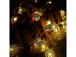Гирлянда новогодняя на 20 Золотых шаров лампочек LED