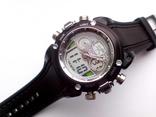 Спортивные часы с двойным циферблатом 3 АТМ - OHSEN мужские