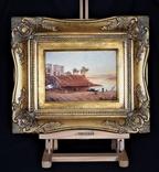 Картина Пейзаж Масло Подпись Рама. 1879 г. photo 1