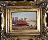 Картина Пейзаж Масло Подпись Рама. 1879 г. photo 2