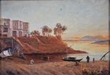 Картина Пейзаж Масло Подпись Рама. 1879 г. photo 3