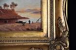 Картина Пейзаж Масло Подпись Рама. 1879 г. photo 4