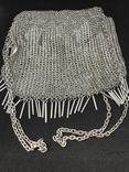 Серебреная театральная сумочка - кольчужка photo 1
