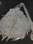 Серебреная театральная сумочка - кольчужка photo 4
