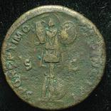 Рим дупондий Траян 107 год Дакия трофеи S P Q R OPTIMO - PRINCIPI SC. photo 2