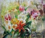 """""""Цветы на кухонном окне"""" 60х50 см. photo 1"""