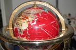 Глобус из минералов с компасом
