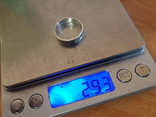 Колько СССР серебро 875 проба, камень., фото №8