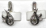 Кольцо, серьги, цирконы, фото №3