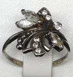 Кольцо, серьги, цирконы, фото №11