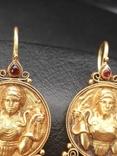 Золотые серьги Деметра photo 4