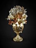 Оригинальный Букет Фаберже Латунь Эмаль Цветы Carl Faberge nr.476