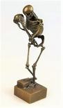 Большая бронзовая фигура скульптура Скелет бронза nr-479
