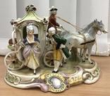 Карета, запряженная парой лошадей. Германия. 1950-1960-е гг.