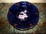 Тарелка фарфор echt kobalt роспись золочение клеймо Crown arpo fine porcelain