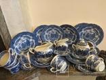 Сервиз на 9 персон 30 предметов Grindley English Country Inns blue Англия