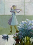 "Картина Шкуропат А. ""Юная скрипачка""1987 г., фото №2"