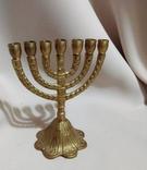 Подсвечник Еврейский на 7 свечей. Латунь. 13 см.