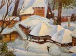 """Легендарная зима"" масло/холст, 30х40см, автор Маслова Марианна"