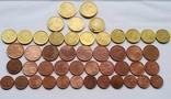 3,47 евро по 50, 20, 10, 5, 1 центов.