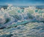"""""""Волна"""", авторский повтор, холст 50 на 60 см, масло, мастихин photo 1"""