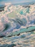 """""""Волна"""", авторский повтор, холст 50 на 60 см, масло, мастихин photo 2"""