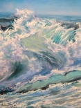 """""""Волна"""", авторский повтор, холст 50 на 60 см, масло, мастихин photo 3"""