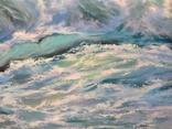 """""""Волна"""", авторский повтор, холст 50 на 60 см, масло, мастихин photo 4"""