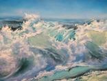 """""""Волна"""", авторский повтор, холст 50 на 60 см, масло, мастихин photo 5"""