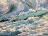 """""""Волна"""", авторский повтор, холст 50 на 60 см, масло, мастихин photo 6"""