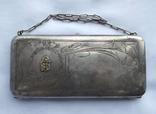 Сумочка клатч серебро 875 проба 292 гр. Вензель из золота.