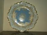 Блюдо Огромное антикварное тарелка фарфор роспись золочение клеймо Reichenbach Германия