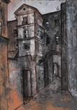 """Картина """"Двор"""", масло, 84х60см, фото №2"""