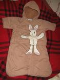 Конверт-комбинезон для новорожденного.45-60 см.до 3-х месяцев