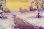 Картина Покрывало зимы, 20х30 см. живопись на холсте, с подписью автора photo 2