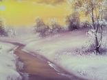 Картина Покрывало зимы, 20х30 см. живопись на холсте, с подписью автора photo 3