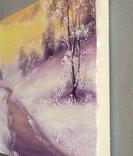 Картина Покрывало зимы, 20х30 см. живопись на холсте, с подписью автора photo 4