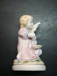 Девочка с голубем. СССР. 12 см., фото №5