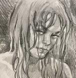 Рисунок Ню - обнаженная девушка - карандаш - А3 photo 2