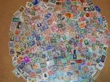 Тематические марки разные темы 400 шт.