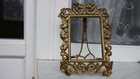 Большая красивая старинная рамка под фото бронза