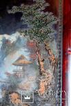 """Подписная Японская старинная Картина на дереве.<span class=""""</div""""></span> photo 5"""