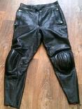 Кожаные байкерские штаны разм.36