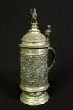 Очень старая оловянная пивная кружка. В коллекцию. Европа. (0433)