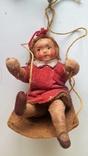 Ёлочная игрушка ''Девочка на качелях''