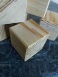 Кубики деревянные 3,5х3,5 (9 деталей) без резерва